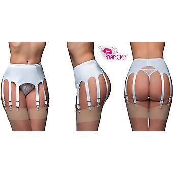 Nancies Lingerie Lycra 10 Strap Suspender / Garter Belt for Stockings