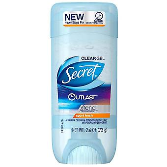 Secret outlast antiperspirant & deodorant clear gel, sport fresh, 2.6 oz