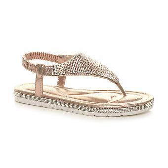 Ajvani Womens flatform alla volta post t-bar comfort sandali slingals slingback