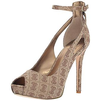 Guess Womens Holie2 Open Toe Ankle Strap Classic Pumps