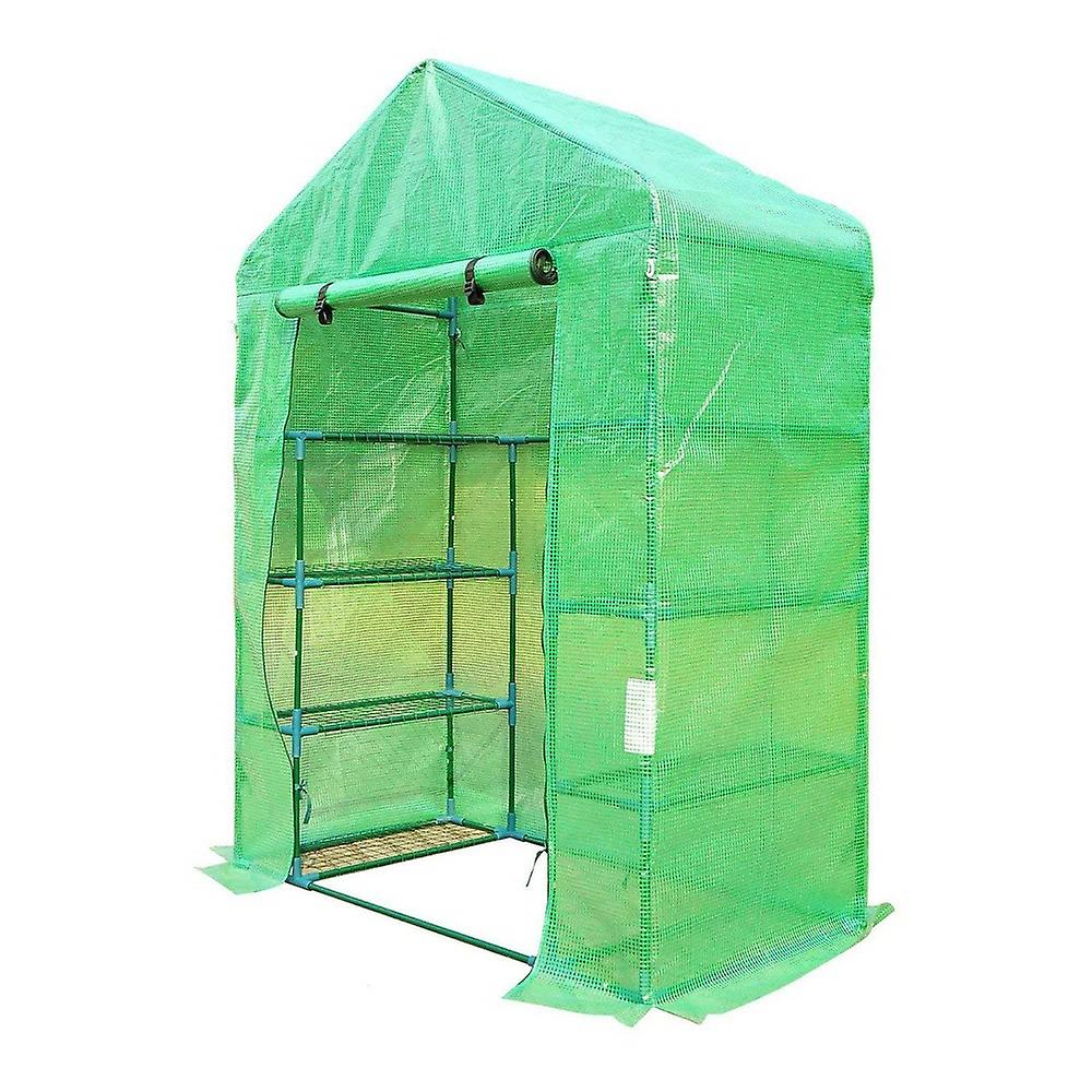 Durable 8 Shelf Walk in Greenhouse / Growhouse with PVC Cover (195 x 143 x 73cm)