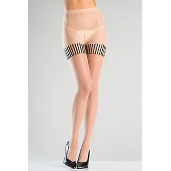 Tights With Striped Stockings Design