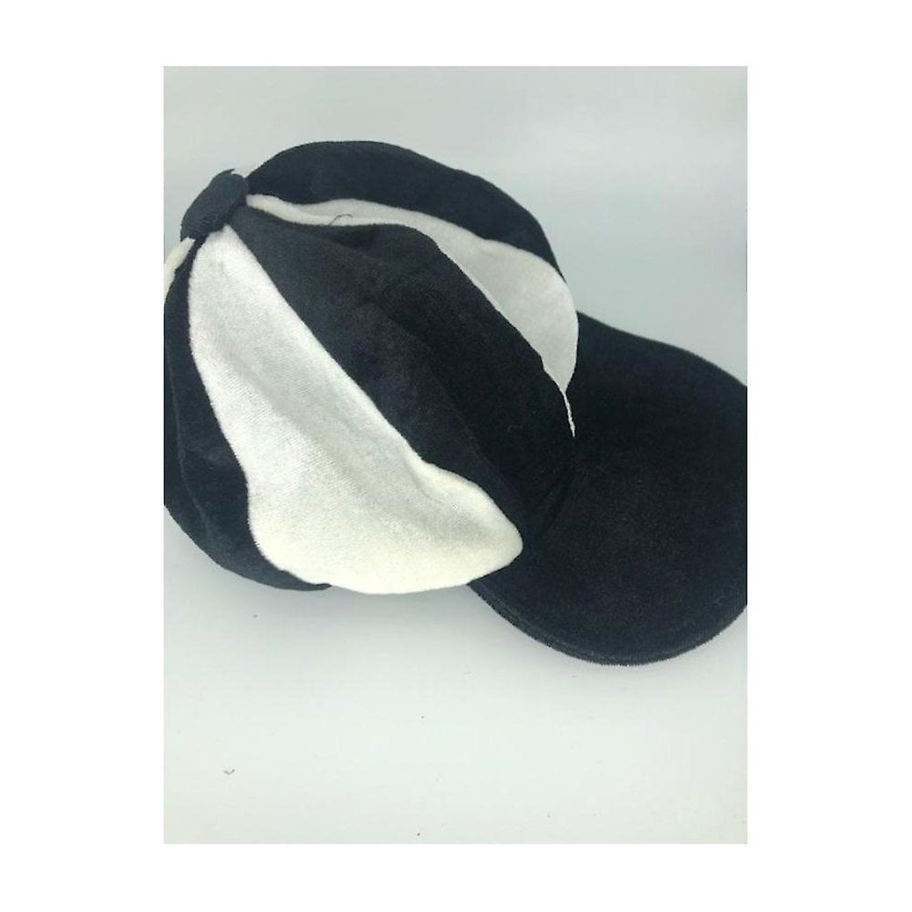 Union Jack Wear Black & White Baker Boy Hat