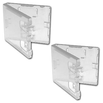 Replacement nintendo ds & gba retail game cartridge case - 25 pack clear