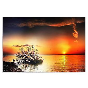 Canvas, Picture on canvas, Sunset over the sea 4