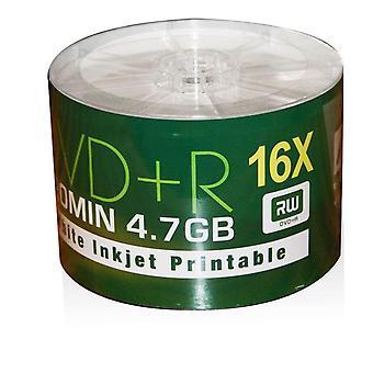 AONE DVD + R 16 X weiße Full Face Inkjet Printable Rohlinge - 50 Spindel DVDs
