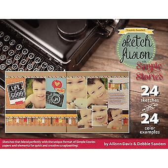 Scrapbook Generation Sketch Fusion With Simple Stories Sg2 Ss1