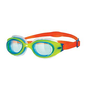 Zogg Sonic Air Junior svømme Goggle - tonet linse - grøn/Orange ramme