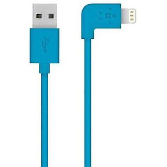 iPad/iPhone/iPod Data kabel/lader føre [1 x USB 2.0-kontakt A - 1 x Apple Dock lyn koble] 1,20 m blått Belkin