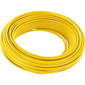 Jumper wire 1 x 0.2 mm² Yellow BELI-BECO D 105/10 giallo 10 m