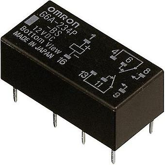 PCB relays 5 Vdc 2 A 2 change-overs Omron G6A-274P
