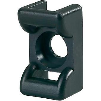 Cable mount Screw fixing heat -stabilised Black H