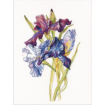 Irises Rainbow Counted Cross Stitch Kit-10.5