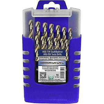 HSS Metal twist drill bit set 19-piece Heller 288