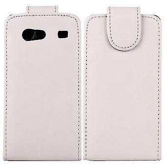Type PU leather flip cover for Samsung Galaxy S Advance i9070 (white)
