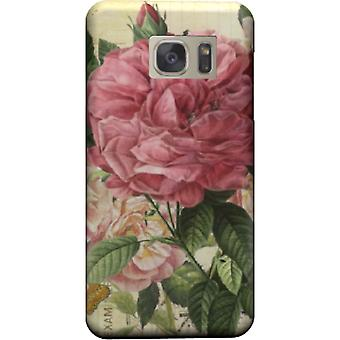 Vintage pink flowers cover for Galaxy S7