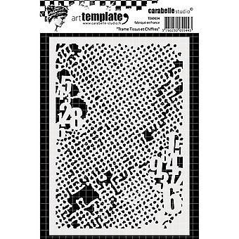Carabelle Studio Template A6-Weft Fabric & Numbers TE60034
