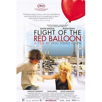 Punainen ilmapallo elokuvajuliste (11 x 17) lento