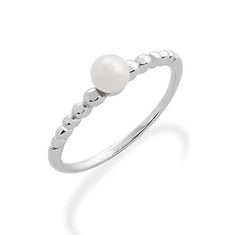 Gemondo 925 Sterling Silver 0.39ct Pearl Stackable Birthstone Ring
