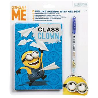 Import In September Agenda And Pen Gel Minions