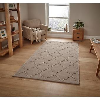 HK 8583 Beige rechthoek tapijten Plain/bijna gewoon tapijten