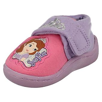 Infant Girls Disney Character Slippers Sofia the First Crown