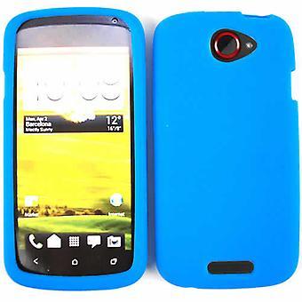 Ubegrænset cellulære Deluxe silikone hud tilfældet for HTC én S (blå)