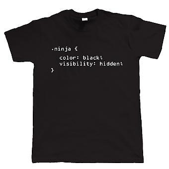 Kod ninja, śmieszne męskie T Shirt