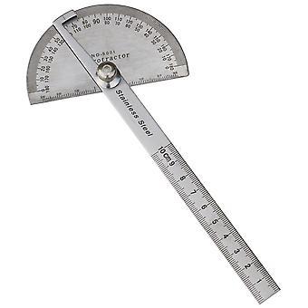 TRIXES 180 graad RVS gradenboog van het meten van de hoek en 100mm liniaal