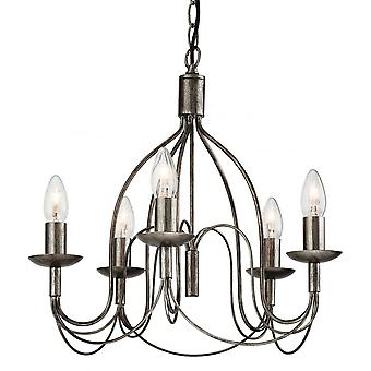 Firstlight Traditional Antique Silver Stick Ceiling Pendant Light Fitting
