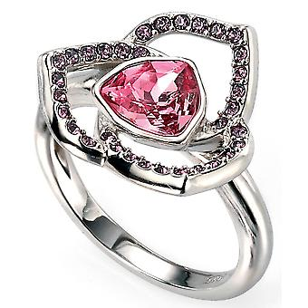 925 Silver Rhodium Plated And Swarovski Crystal Ring Trend