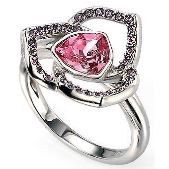 925 Silber Rhodium plattiert und Swarovski Kristall Ring Trend