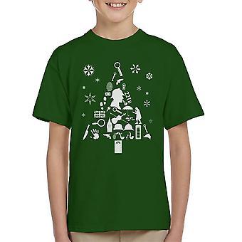 Christmas Tree Sherlock Holmes Kid's T-Shirt