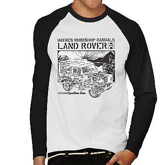 Haynes eiere Workshop manuell Land Rover solnedgang svarte menn Baseball lange ermer t-skjorte