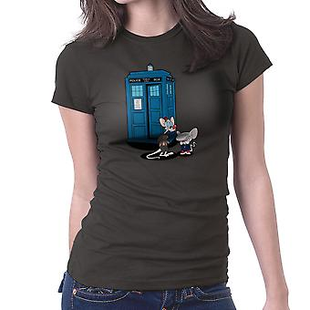 Doctor Who Pinky och hjärnan Tardis Matt Smith Peter Capaldi Women's T-Shirt