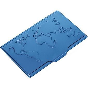 Troika Global Contacts Business Card Holder - Blue