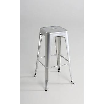 Kit Closet High Stool Metal Silver 19013 (Meubilair , Eetkamer en keuken , Krukken)