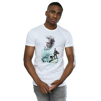 Star Wars Men's The Last Jedi Luke and Rey T-Shirt