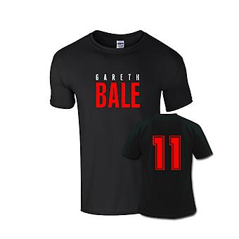 Gareth Bale Front Name T-shirt (black)