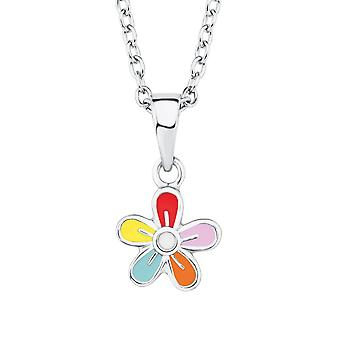 Princess Lillifee child kids necklace silver flowers colorful 2019691