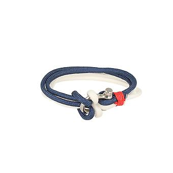 Baxter jewelry London bracelet white and blue jewelry sporty nylon screw cap 21.5 cm