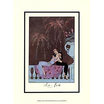 Le Feu Poster Print by Georges Barbier (10 x 13)