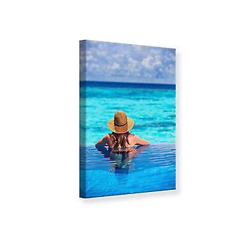 Impresión de lona la piscina en el mar
