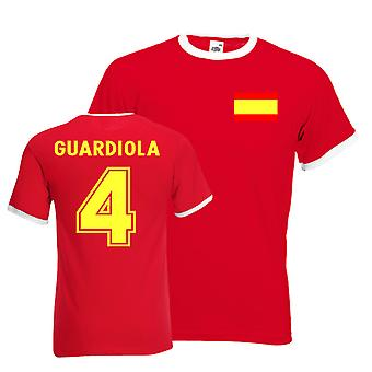 Josep Guardiola Spain Ringer Tee (red)