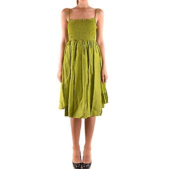 Twin-set ladies MCBI302196O green cotton dress