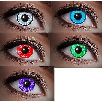 UV contact lens black light diamond gemstone