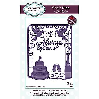 Creative Expressions Sue Wilson Frames And Tags Collection Wedded Bliss