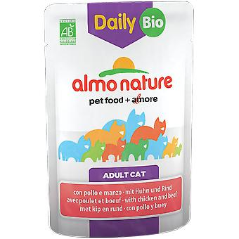 Almo nature Cat Daily/Bio Bovine & Chicken (Cats , Cat Food , Wet Food)