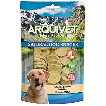 Arquivet Natural Snack for Dogs Cod Chips (Psy , Smakołyki , Eko produkty)