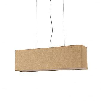 Ideal Lux Kronplatz rechteckige 4 Lampe Stoff Insel Schatten, kleine